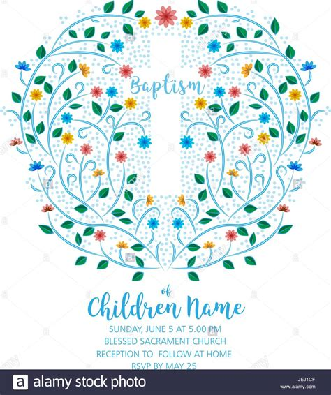 Baptism Christening Invite Invitation Template with