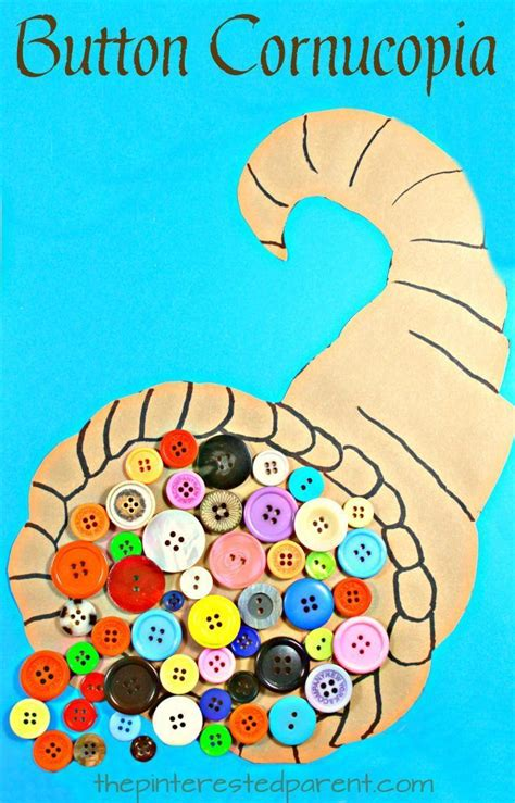 button cornucopia arts and craft project for 749 | 546772b8f670bb8d658949ce3964b789