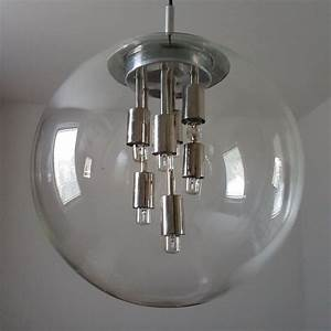 Lampe Globe Verre : lampe globe en verre de doria leuchten 1970s en vente sur pamono ~ Teatrodelosmanantiales.com Idées de Décoration