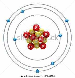 Nitrogen Atom White Background Stock Illustration