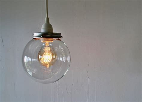round glass pendant light crystal ball hanging pendant l with a clear round orb