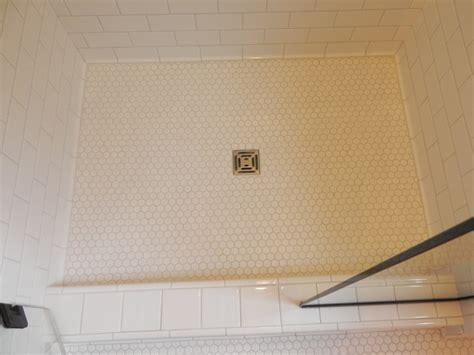 white shower floor tile tiled shower floors bathroom renovations