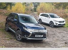 Mitsubishi Outlander vs Kia Sorento review Auto Express