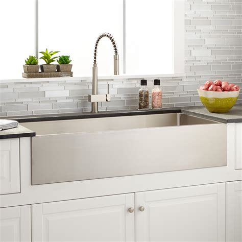 stainless farmhouse kitchen sinks 39 quot optimum stainless steel farmhouse sink kitchen 5708