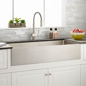 39quot atwood stainless steel farmhouse sink kitchen With 39 inch farmhouse sink