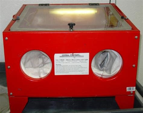 central pneumatic blast cabinet gloves central pneumatic abrasive sand blast cabinet and light ebay