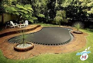 In Ground Trampolin : great way to refurbish a pool spot cool shape in ground trampoline in ground trampoline ~ Orissabook.com Haus und Dekorationen