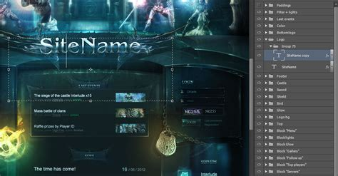 website templates fantasy high fantasy web template
