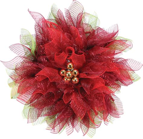 geomesh poinsettia wreath crafts direct