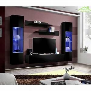 Meuble Tv Led Conforama : ensemble meuble tv mural fly a avec led ~ Dailycaller-alerts.com Idées de Décoration