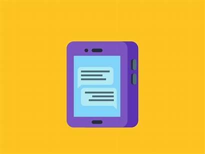 Smartphone Flat Animation Phone App Mobile Dribbble