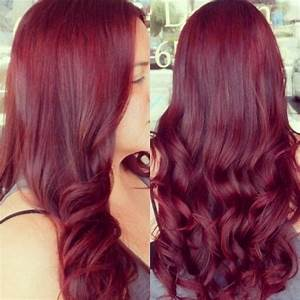 Dark red purple hair color in 2016, amazing photo ...