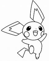 Pichu Coloring Pages Happy Jumping Pokemon Pikachu Around Colorluna Template Sketch Getcoloringpages Getdrawings sketch template