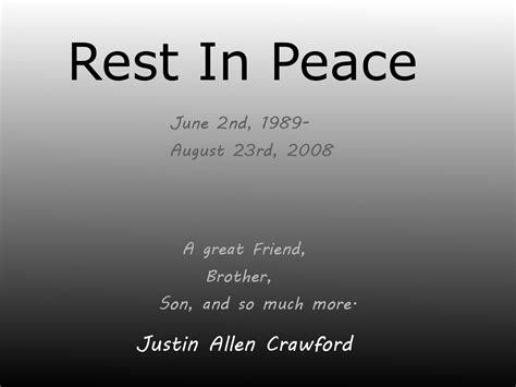 Awesome Quotes For Rest In Peace Brother - Mesgulsinyali