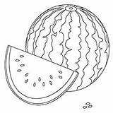 Watermelon Coloring Pages Fruits Cartoon Crimson Sweet Printable Toddler Boy Coloringonly sketch template