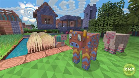 minecraft xbox edition   colourful pattern texture