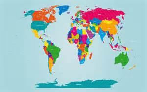 Large Printable World Map Print