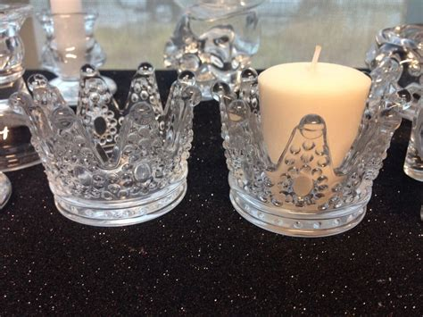 princess crown candle holder favors party table