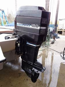 Used 1985 Mercury 150 Xr2 Elpto 150hp Outboard Boat Motor 20 U0026quot  Shaft