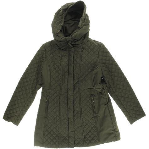 Jones New York 9714 Womens Quilted Hooded Outerwear Coat Jacket BHFO | eBay