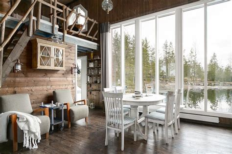 small living room scandinavian style small house by water