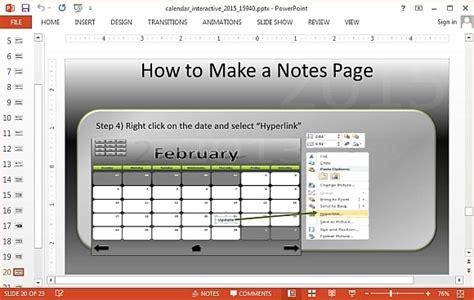 interactive powerpoint templates interactive calendar 2015 powerpoint template