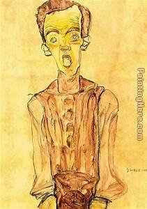 Egon Schiele Portrait with an open mouth painting anysize ...