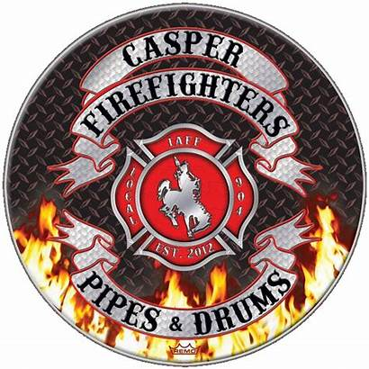 Casper Pipes Drums Firefighters Professional Firefighter Fire