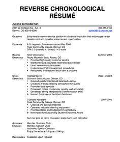 resume chronological on resume resume