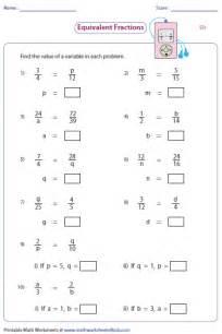 fraction of a number worksheet equivalent fraction worksheets