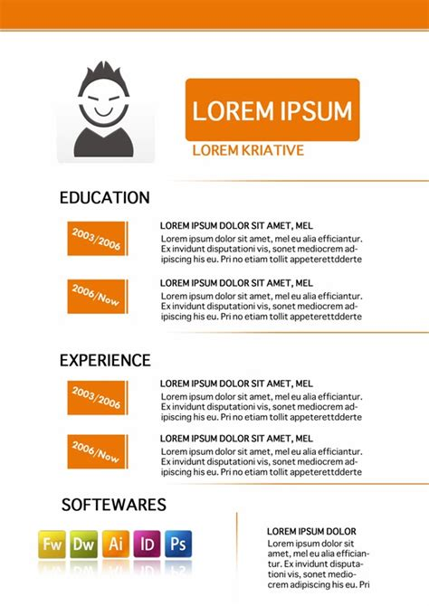 graphic design resume template platinum class