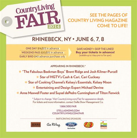 country living fair ticket giveaway create  babble