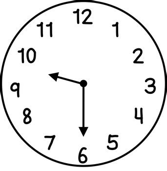 clocks clip art hour  hour  primary pearls tpt
