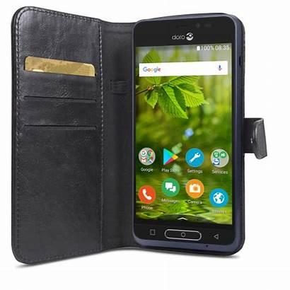 Doro Wallet Zwart Case Vastenmobiel Smartphone