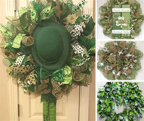 st patricks day wreath ideas inspirations