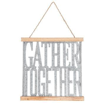 Free shipping on orders of $35+ and save 5% every day with your target redcard. Gather Together Galvanized Metal Wall Decor   Galvanized metal wall, Galvanized wall decor ...