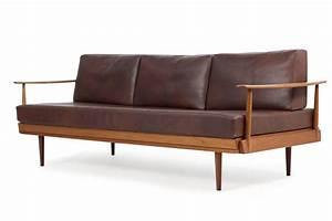 Knoll Antimott Sofa : sold rare 1960s knoll antimott daybed teak leather ~ Sanjose-hotels-ca.com Haus und Dekorationen