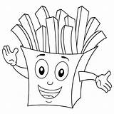 Coloring Fries French Pages Mcdonald Mcdonalds Paper Bag Ronald Potato Chips Cartoon Smiling Fried Getdrawings Character Getcolorings Printable Colorings sketch template
