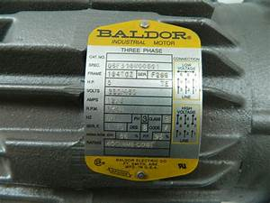 Baldor 5hp Electric Motor 3450 Rpm 184tcz Frame Te 208
