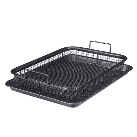 air fryer mesh tray oven basket grill pan baking 2pcs stick tool non alexnld three