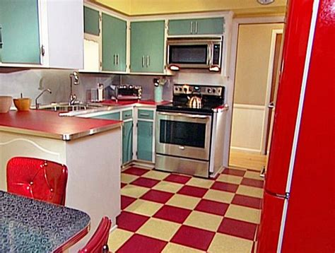 Someday, I Want Red And White Checkered Tile In My Kitchen