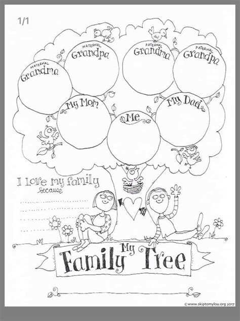 family tree activity image  hsu annie  kid family
