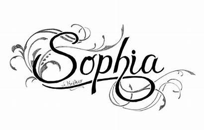 Tattoo Sophia Fancy Nome Pencil Draw Tatuajes