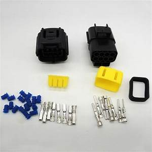 1 Set 8 Pin Waterproof Wire Connector Plug Car Auto Electrical Denso Connectors