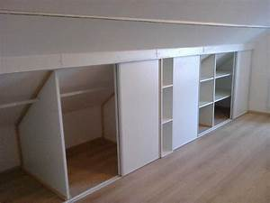 charmant meuble sous comble avec platsa armoire penderie With porte de douche coulissante avec armoire penderie salle de bain