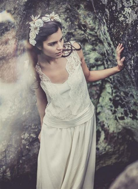 Robe Boheme Mariage Laure De Sagazan Les Robes De Mari 233 Es Esprit Vintage Romantique Un Style And Robes