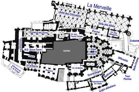 plan des divers niveaux du mont michel