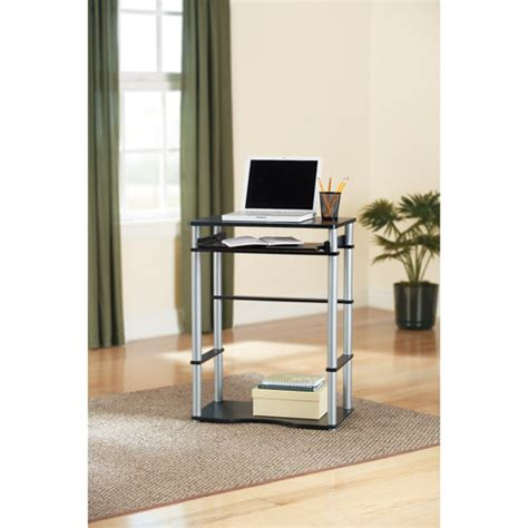 computer desk with keyboard tray black furniture