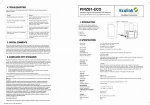 Pirzb1eco User Manual User Manual