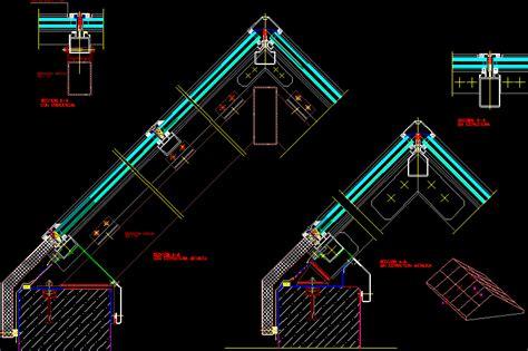 gabled skylight dwg section  autocad designs cad